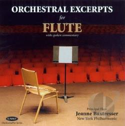 Baxtresser, Jeanne: fl - Orchestral Excerpts for Flute CD Cover Art