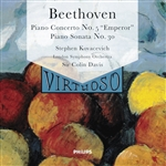 Kovacevich/Davis/London Symphony Orchestra - Beethoven: Emperor Concerto, etc / Bishop-Kovacevich, LSO CD Cover Art