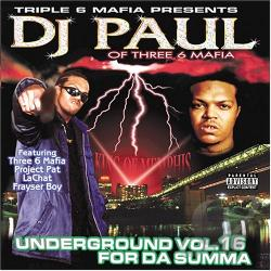 Paul, DJ - Underground 16: For da Summa CD Cover Art