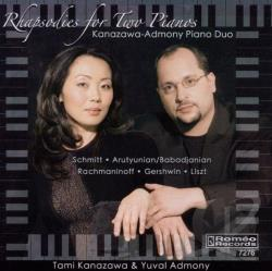 Admony / Kanazawa - Rhapsodies for Two Pianos CD Cover Art