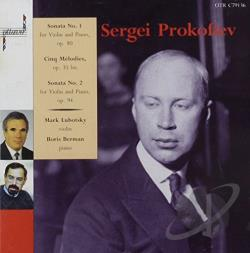 Prokofiev, Sergei - Sonata No. 1 For Violin & Piano CD Cover Art