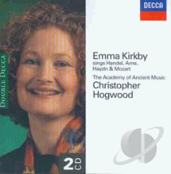 Academu Of Ancient Music / Hogwood / Kirkby - Emma Kirkby sings Handel, Arne, Haydn & Mozart CD Cover Art