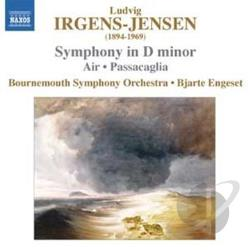 Bournemouth Sym Orch / Engeset / Irgens-Jensen - Ludvig Irgens-Jensens: Symphony in D minor; Passacaglia CD Cover Art