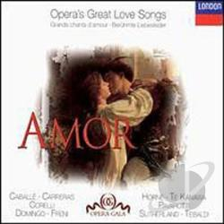 Amor: Opera's Greatest Love Songs - Amor: Opera's Great Love Songs CD Cover Art