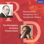Dutoit / Po - Rachmaninov: Symphony no 3, Symphonic Dances / Dutoit CD Cover Art