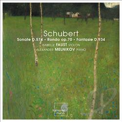 Faust, Isabelle - Schubert: Sonate D. 574; Rondo Op. 70; Fantasie D. 934 CD Cover Art