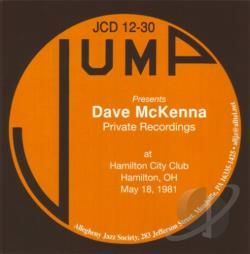McKenna, Dave - May 18, 1981 Private Solo Recordings CD Cover Art