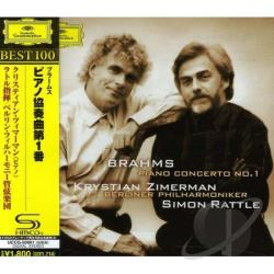 Zimerman, Krystian - Brahms: Piano Concerto No. 1 CD Cover Art