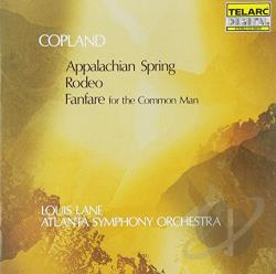 Aso / Copland / Lane - Copland: Appalachian Spring; Rodeo; Fanfare for the Common Man CD Cover Art