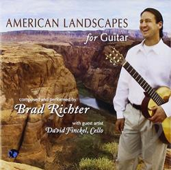 Brad Richter / Finckel, David - American Landscapes for Guitar CD Cover Art