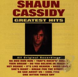 Cassidy, Shaun - Greatest Hits CD Cover Art