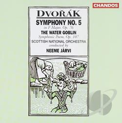 Dvorak / Jarvi / Sno - Dvor�k: Symphony No. 5; The Water Goblin CD Cover Art