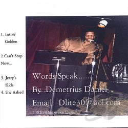 Daniel, Demetrius - Words Speak CD Cover Art