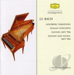 Bach / Kirkpatrick - Bach: Goldberg Variations; Italian Concerto CD Cover Art