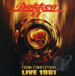 Dokken - From Conception: Live 1981 CD Cover Art