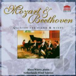 Beethoven / Mozart - Quintets For Piano & Winds CD Cover Art