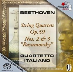 Beethoven / Quartetto Italiano - Beethoven: String Quartets Op. 59, Nos. 2 & 3 'Rasumovsky' CD Cover Art
