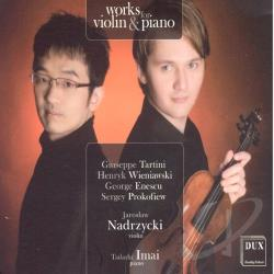 Imai, Tadashi / Jaroslaw Nadrzycki - Works for Violin & Piano CD Cover Art