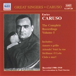 Caruso, Enrico - Complete Recordings, Vol. 5 CD Cover Art