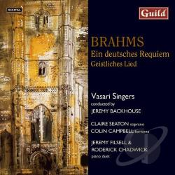 Backhouse / Brahms / Campbell / Filsell / Seaton - Brahms: Ein deutsche Requiem; Geistliches Lied CD Cover Art