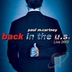 McCartney, Paul - Back In The U.S. CD Cover Art