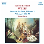 Barto, Robert / Weiss, Silvius Leopold - Sylvius Leopold Weiss: Sonatas for Lute, Vol. 3 CD Cover Art