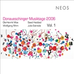 Donaueschinger Musiktage 2006, Vol. 1 CD Cover Art