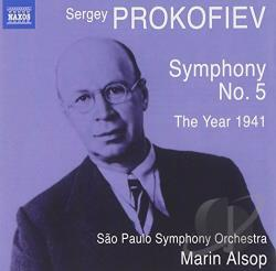 Alsop / Prokofiev / Sao Paulo State Sym - Prokofiev: Symphony No. 5; The Year 1941 CD Cover Art
