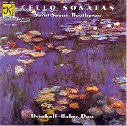 Baker / Beethoven / Drinkall / Saint-Saens - Saint-Saens & Beethoven: Cello Sonatas CD Cover Art