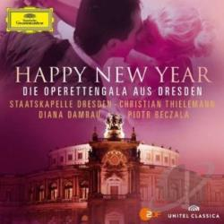 Beczala / Damrau / Staatskapelle Dres / Thielemann - Happy New Year: Die Operettengala aus Dresden CD Cover Art