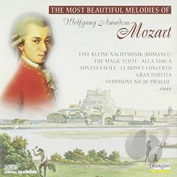 Mozart, Wolfgang Amadeus - Most Beautiful Melodies of Wolfgang Amadeus Mozart CD Cover Art