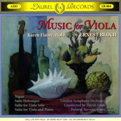 Elaine, Karen - Music for Viola by Ernest Bloch CD Cover Art