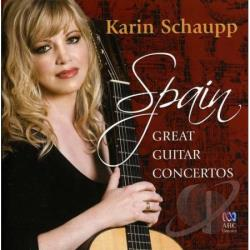 Schaupp, Karin - Spain: Great Guitar Concertos CD Cover Art