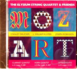 Mozart, Wolfgang Amadeus - Mozart: The Elysium String Quartet & Friends CD Cover Art