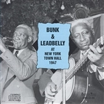 Johnson, Bunk / Lead Belly - New York Town Hall 1947 CD Cover Art