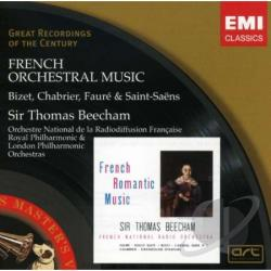 Beecham, Thomas, Sir - French Orchestral Music CD Cover Art