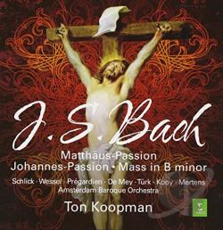Amsterdam Baroque Orch / Bach / Koopman / Mey - J.S. Bach: St. Matthew Passion; Mass in B minor CD Cover Art
