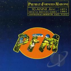 P.F.M. - 10 Anni Live 1971 - 1981 CD Cover Art