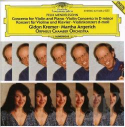 Argerich, M / Kremer / Mendelssohn / Orpheus - Mendelssohn: Concertos for Violin, Piano and String Orchestra CD Cover Art