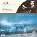 Argerich, M / Bertini / Cologne Radio Sym. / Ravel - Ravel: Daphnis et Chloe; Concerto for Piano and Orchestra CD Cover Art