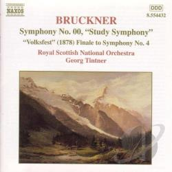 Bruckner / Royal Scottish Nat'L Orchestra / Tintner - Bruckner: Symphony No.00/Symphony 4 Finale CD Cover Art