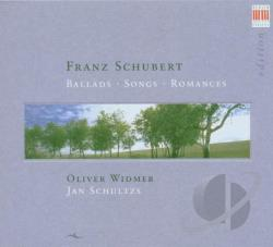 Schultz (pno) / Widmer (bar) - Schubert: Ballads, Songs, Romances CD Cover Art