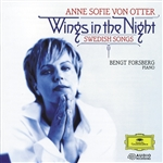 Von Otter, Anne Sofie - Wings In The Night - Swedish Songs / Von Otter, Forsberg CD Cover Art