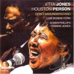 Jones, Etta - Don't Misunderstand: Live In New York CD Cover Art