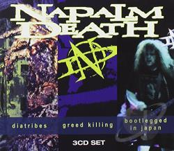 Napalm Death - Diatribes/Greed Killing/Bootlegged in Japan CD Cover Art