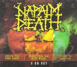 Napalm Death - Inside the Torn Apart/Words from the Exit Wound/Breed to Breathe CD Cover Art