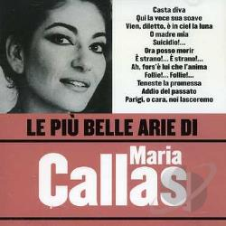 Callas, Maria - Le Piu Belle Arie di Maria Callas CD Cover Art