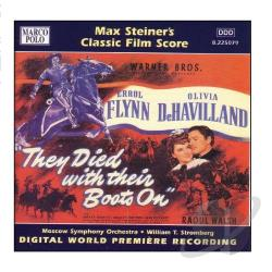 Steiner, Max - Steiner: They Died With Their Boots On CD Cover Art