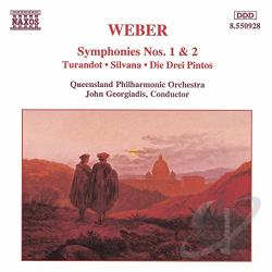 Georgiadis / Weber - Weber: Symphonies Nos. 1 & 2 CD Cover Art