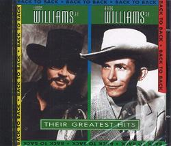 Williams, Hank / Williams, Hank, Jr. - Back to Back: Their Greatest Hits CD Cover Art